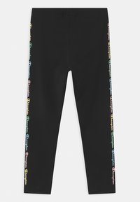 Champion - COLOR LOGO UNISEX - Leggings - black - 1