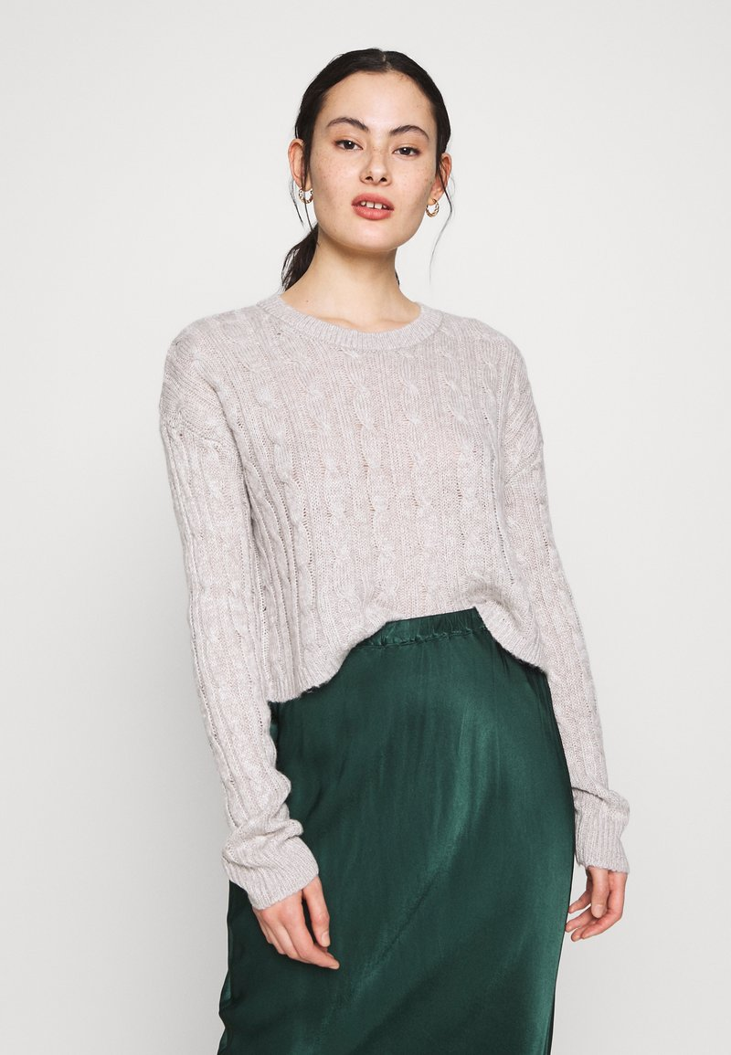 New Look - BASIC - Jersey de punto - light grey