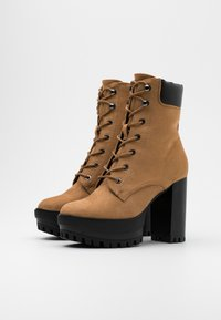 Even&Odd - High heeled ankle boots - sand - 2