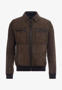 BOSS - JOAST - Leather jacket - brown - 4