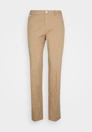 FLEX CONTRAST DETAIL SLIM PANT - Trousers - beige