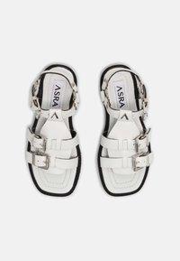 ASRA - SPECTOR - Sandaalit nilkkaremmillä - white - 4