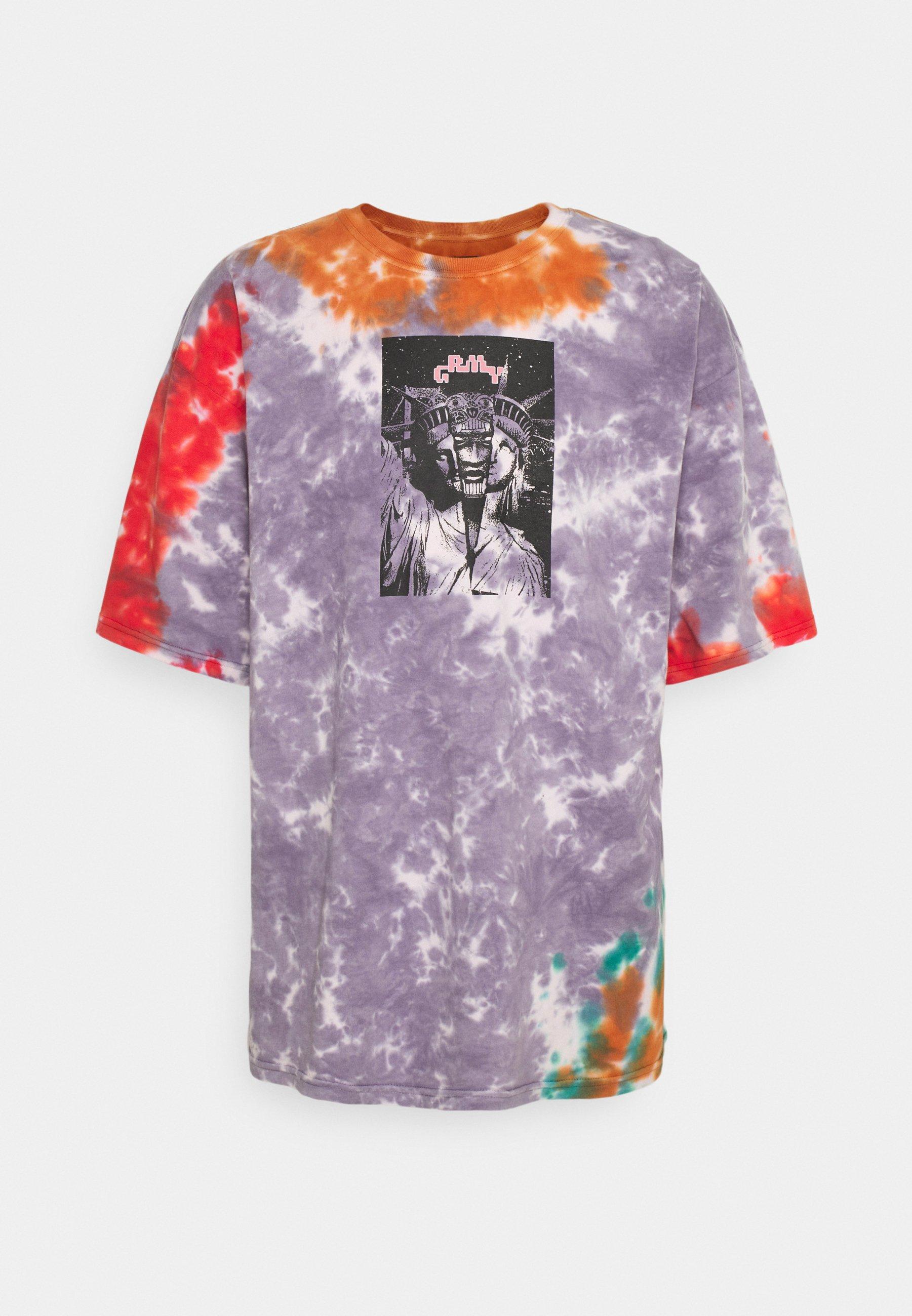 Men UNISEX LIVEUTION MAGIC TIE DYE TEE - Print T-shirt