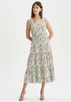 TIERED  - Maxi dress - ecru