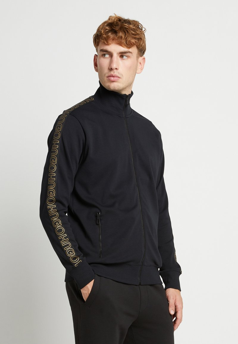 HUGO - DASAYO - Sweatjacke - black/gold