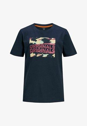JORCAMERON CREW NECK  - T-shirt med print - navy blazer