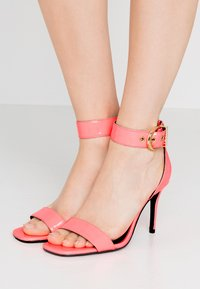 Versace Jeans Couture - High heeled sandals - corallo fluo - 0