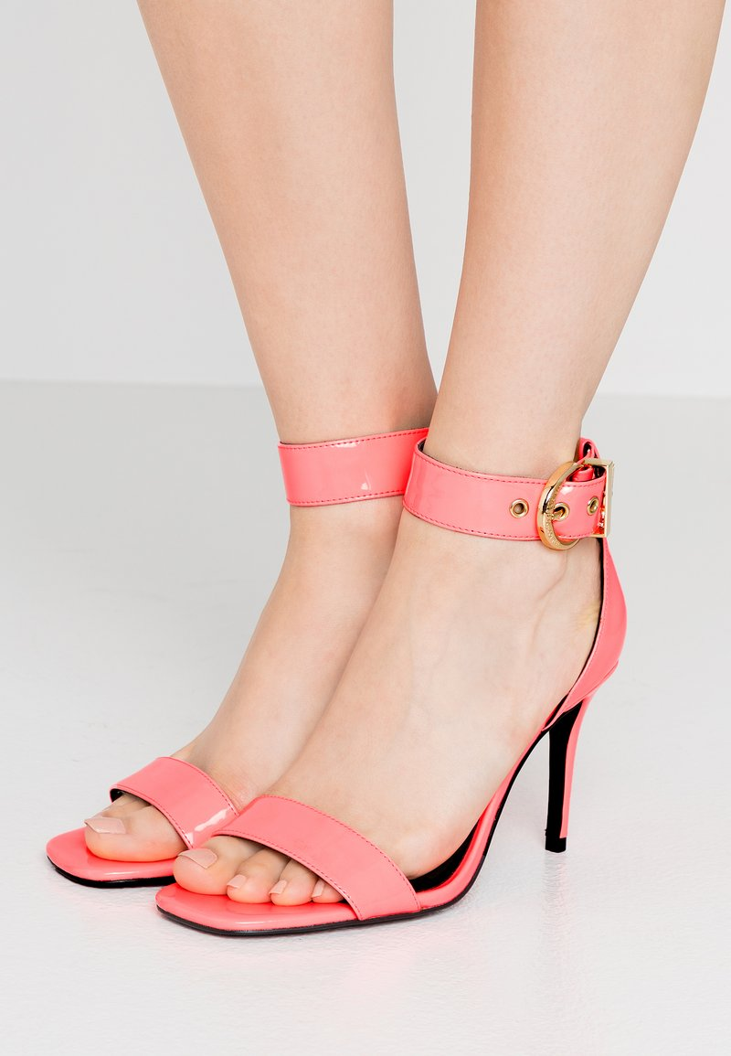 Versace Jeans Couture - High heeled sandals - corallo fluo