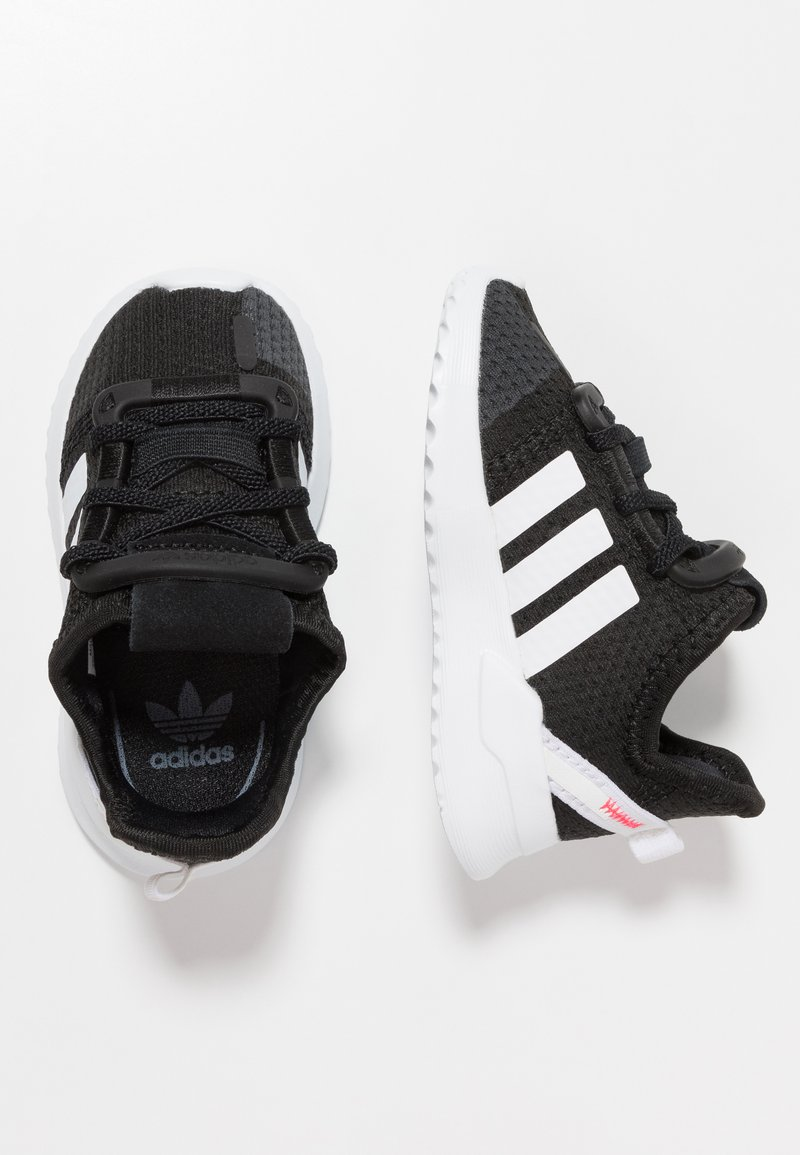 adidas Originals - PATH RUN  - Trainers - clear black/footwear white/shock red