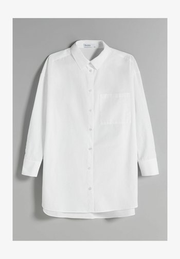 OVERSIZE LANGARM - Camicia - white