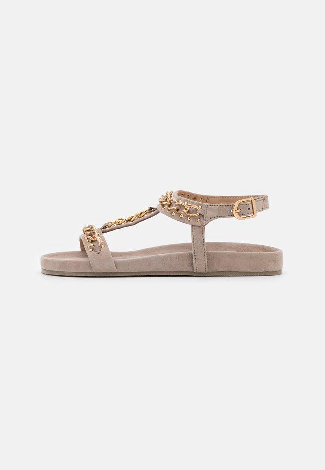 SO SERIOUS - Sandaalit nilkkaremmillä - beige