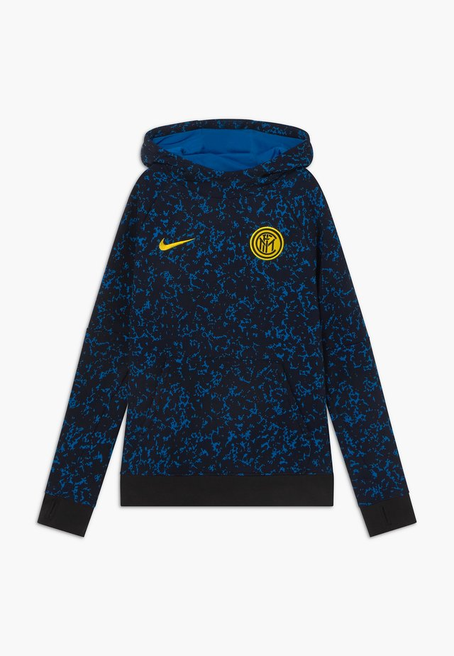 INTER MAILAND HOOD - Squadra - black/tour yellow