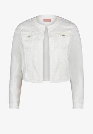 MIT AUFGESETZTER BRUSTTASCHE - Denim jacket - weiß