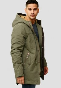 INDICODE JEANS - Winter coat - dark green - 3