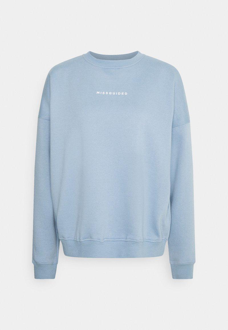 Missguided - BASIC OVERSIZED - Sweatshirt - powder blue