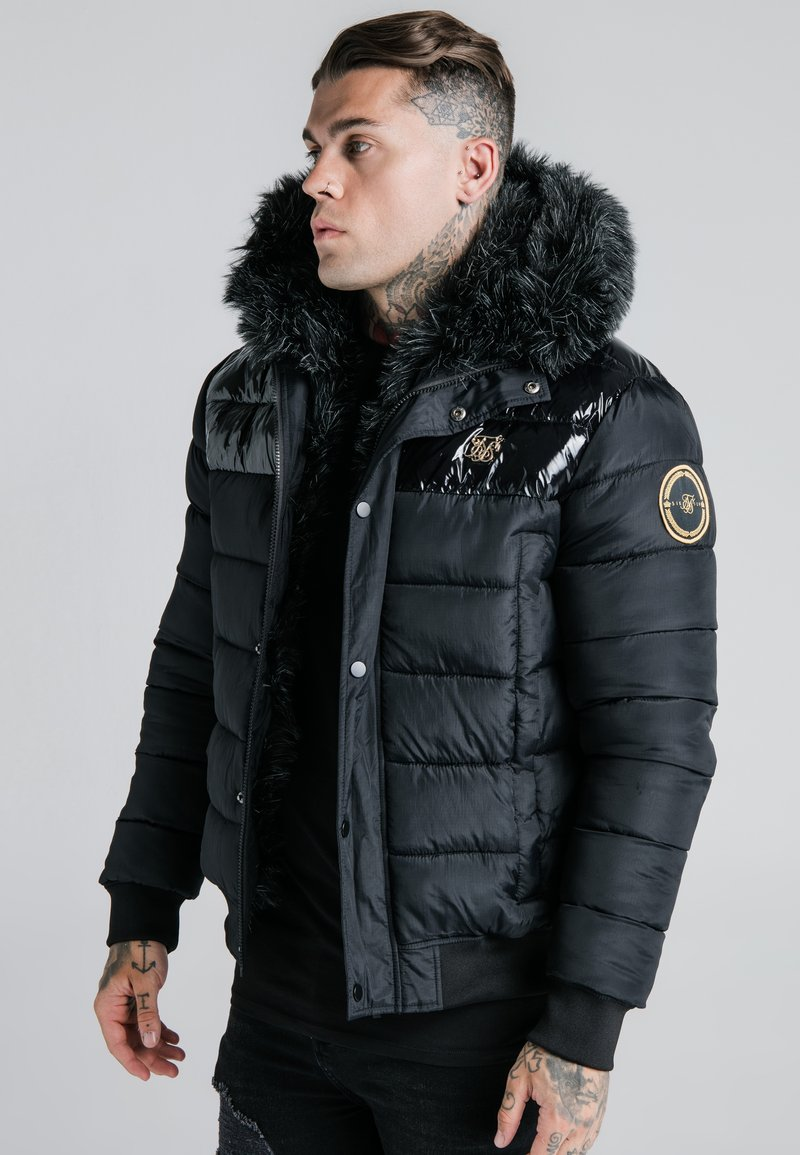 SIKSILK - ELITESHORT PARKA - Winterjas - black