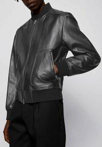 BOSS - NIPET - Leather jacket - black - 4