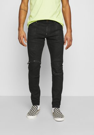 3D ZIP KNEE SKINNY - Jeans Skinny Fit - black radiant