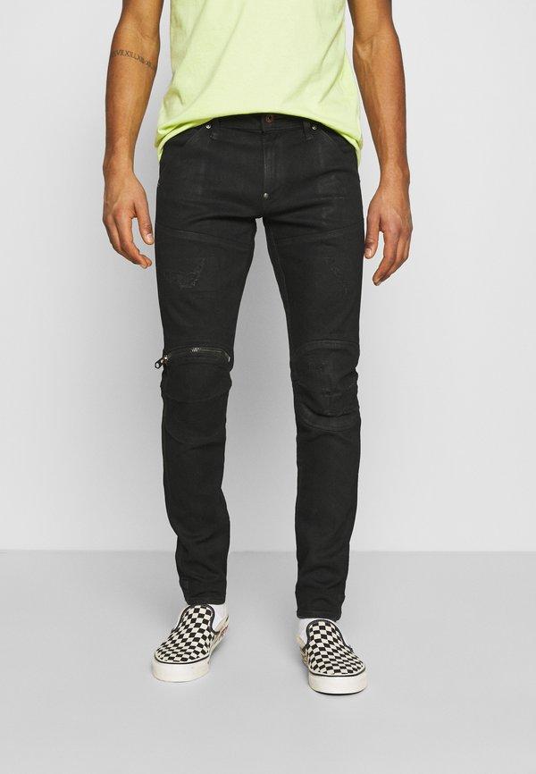 G-Star 3D ZIP KNEE SKINNY - Jeansy Skinny Fit - black radiant/czarny denim Odzież Męska OKQN