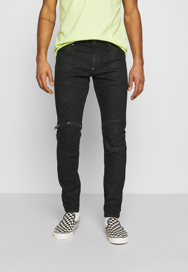 3D ZIP KNEE SKINNY - Jeans Skinny Fit - black radiant