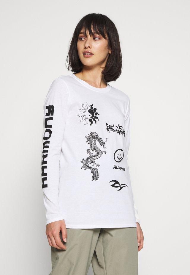 HARMONY GRAPHIC LONG SLEEVE PRINT - Langærmede T-shirts - white