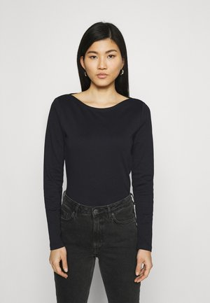 LONG SLEEVE ROUND NECK - Long sleeved top - black