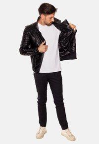 LEATHER HYPE - JORDAN PERFECTO - Leather jacket - black - 8