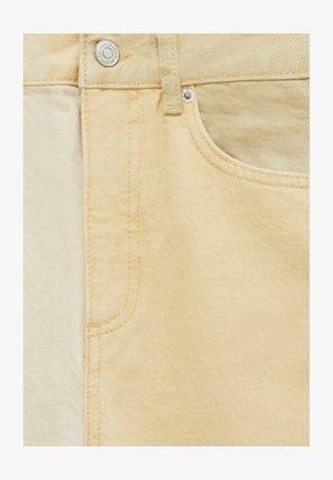 PATCHWORK - Straight leg jeans - mottled beige