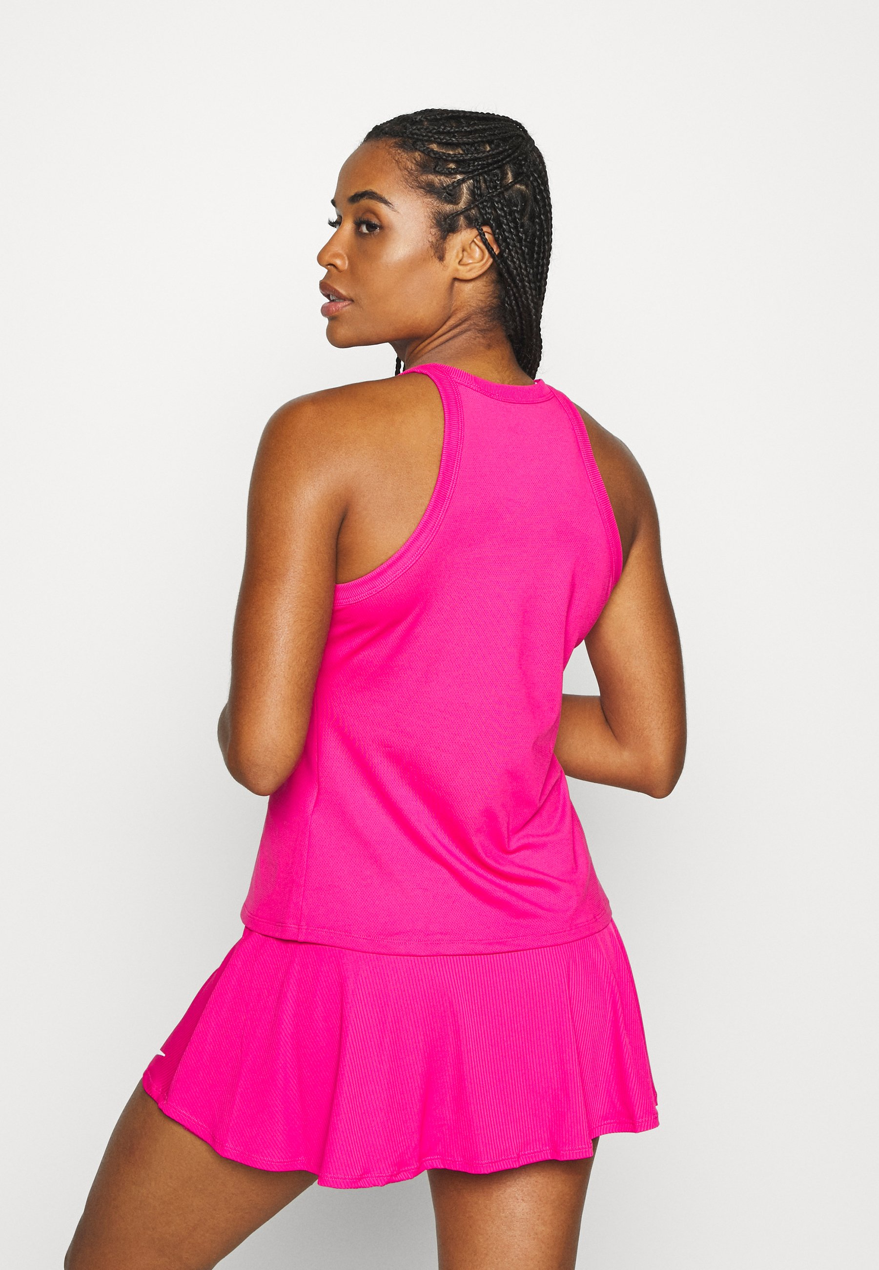 Nike Performance DRY TANK - Sports shirt - vivid pink/white ownds
