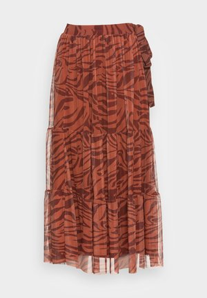 SKIRT PRINTED - Áčková sukně - ginger spice