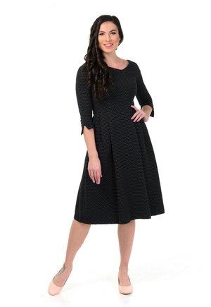 CARBONA - Korte jurk - black