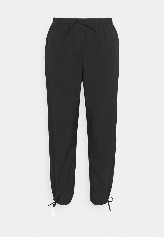 TIE CUFF JOGGERS - Trainingsbroek - black