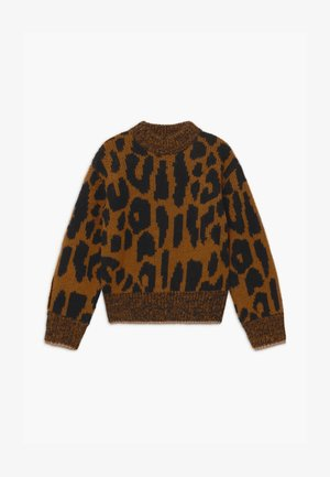 CHUNKY LEOPARD VOLUMINOUS SLEEVES - Trui - light brown/black