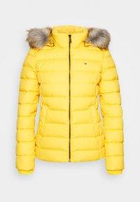 BASIC HOODED JACKET - Down jacket - yellow