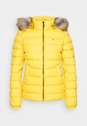 BASIC HOODED JACKET - Gewatteerde jas - yellow