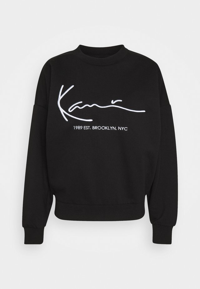 SIGNATURE CREW - Sweater - black
