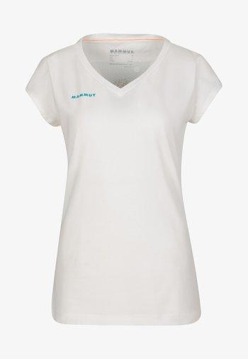 MASSONE - T-shirt con stampa - white