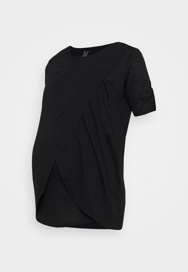 T-shirt print - gunmetal/pewter