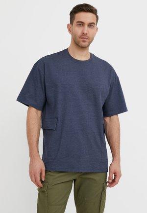 RUNDHALS - T-shirt basique - dark blue melange