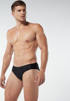 BASIC-BADEHOSE AUS MIKROFASER - Swimming briefs - nero