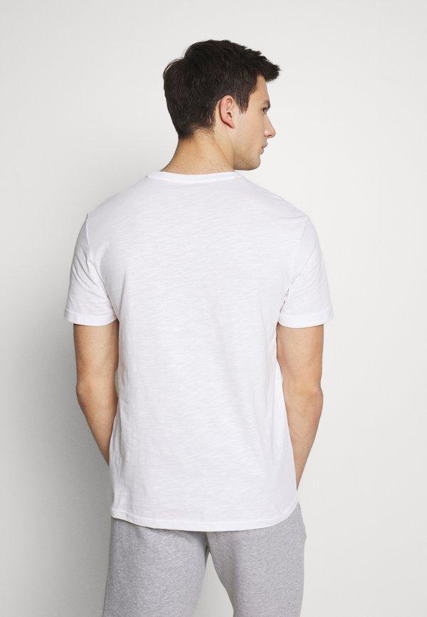 Pier One T-shirt z nadrukiem - white/biały Odzież Męska WSFL