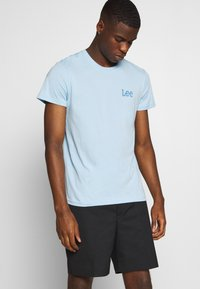 Lee - TWIN 2 PACK - T-shirt print - white/sky blue - 3