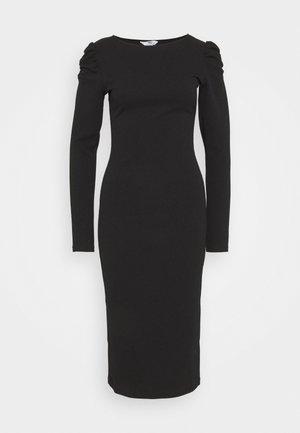 RUCHED SLEEVE BODYCON - Vestido de tubo - black