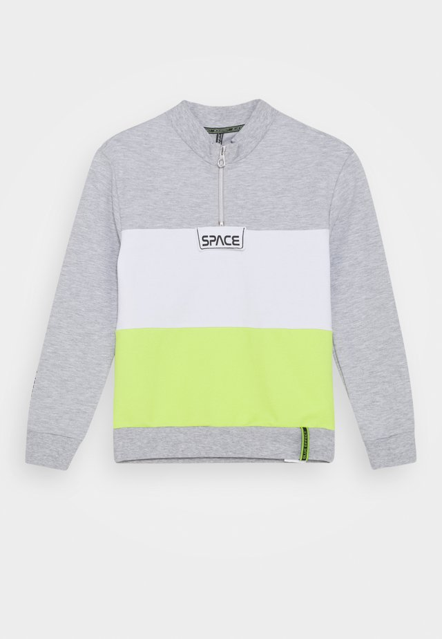 BOYS SPACE - Sweatshirt - hellgrau meliert