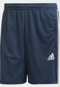 adidas Performance - DESIGNED TO MOVE SPORT 3-STREIFEN  - Pantalón corto de deporte - blue - 6