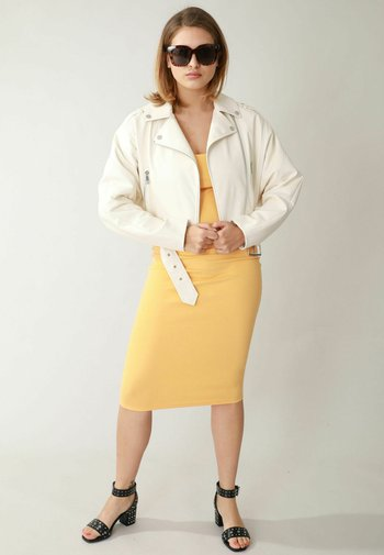 Faux leather jacket - altweiß