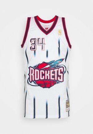 NBA HOUSTON ROCKETS HAKEEM OLAJUWON SWINGMAN - Club wear - white