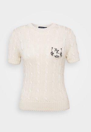 Jednoduché triko - cream