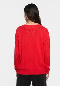 Desigual - JERS_GANTE - Pullover - red - 2