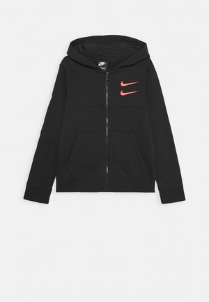 Zip-up hoodie - black/black/ember glow